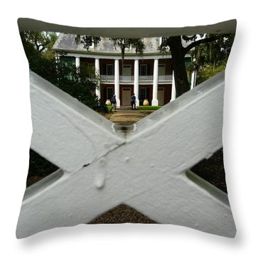 Throw Pillow featuring the photograph Shadows X On The Teche  by Rdr Creative