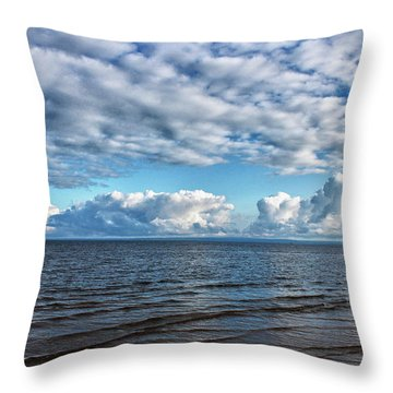 Throw Pillow featuring the photograph Shallow Waves by Rachel Cohen