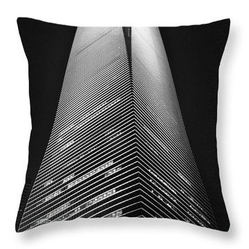 Shanghai World Financial Center Throw Pillow