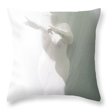 Shaped Shadows Throw Pillow by Scott Sawyer