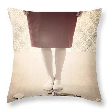 Shards Throw Pillow by Joana Kruse