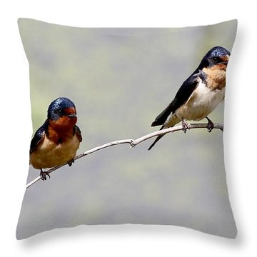 Throw Pillow featuring the photograph Sharing A Branch by Elizabeth Winter