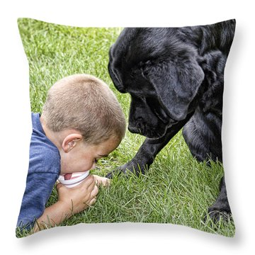 Sharing Throw Pillow