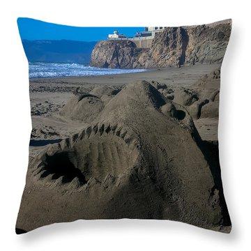 Shark Sculpture Throw Pillow by Garry Gay