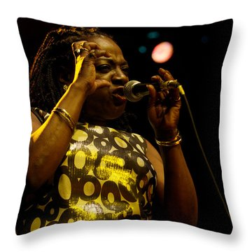 Sharon Jones Throw Pillow