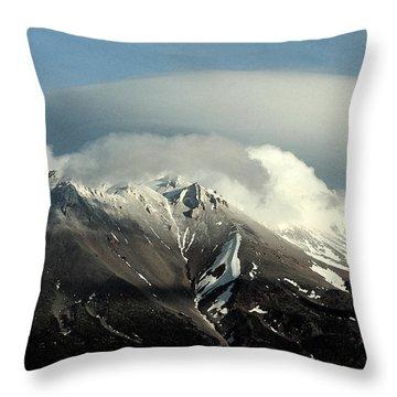 Throw Pillow featuring the digital art Shasta Lenticular 2 by Holly Ethan