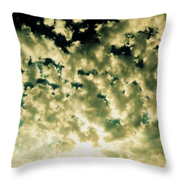 Shattered Throw Pillow by Ramona Johnston
