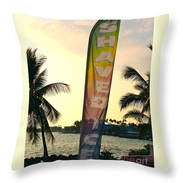 Shaved Ice Throw Pillow by Beth Saffer