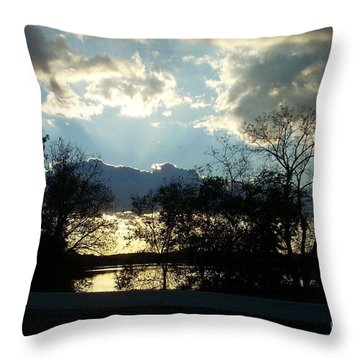 Shawnee Mission Park Sunset  Throw Pillow