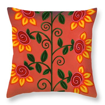 She Is Life Throw Pillow by Victoria De Almeida