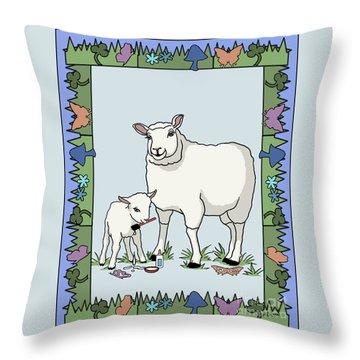 Sheep Artist Sheep Art Throw Pillow by Audra D Lemke