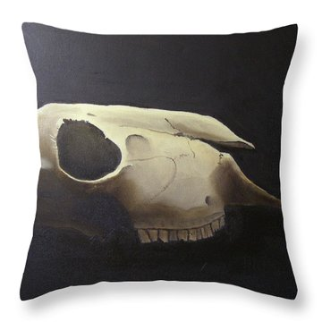 Sheep Skull Throw Pillow
