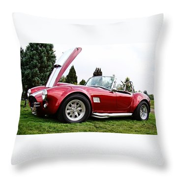 Throw Pillow featuring the photograph Shelby Cobra by Nick Kloepping