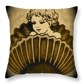 Shell With Child 2 Throw Pillow by Georgeta  Blanaru