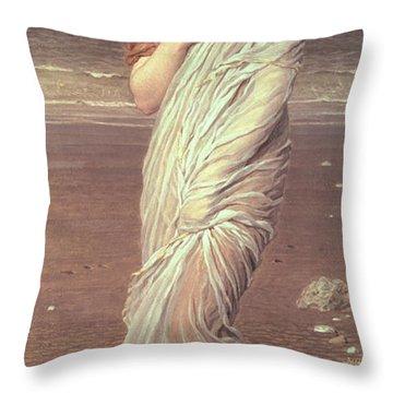 Shells  Throw Pillow by Albert Joseph Moore