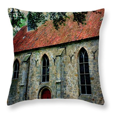 Shelter From The Storm Throw Pillow by Carol Groenen