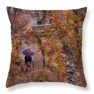 Throw Pillow featuring the photograph Alone Together by Tom Gort