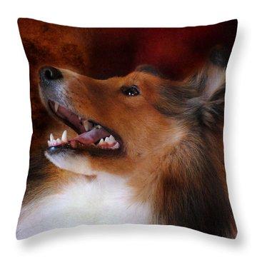 Sheltie II Throw Pillow by Jai Johnson