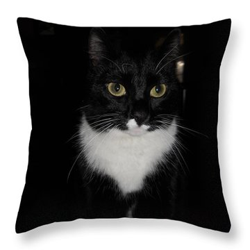 Throw Pillow featuring the photograph She's Got Bette Davis Eyes by Diannah Lynch