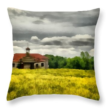 Shiloh School Throw Pillow by Lynne Jenkins