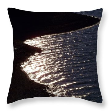 Shining Shoreline Throw Pillow by Dorrene BrownButterfield