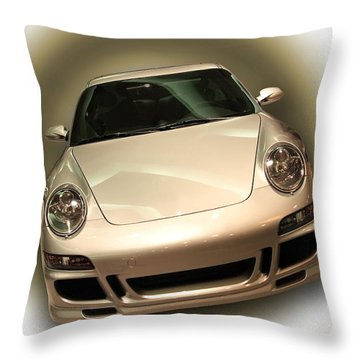 Shiny New Car With Fancy Background Throw Pillow