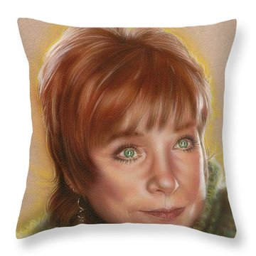 Shirley Throw Pillow by Timothy Scoggins