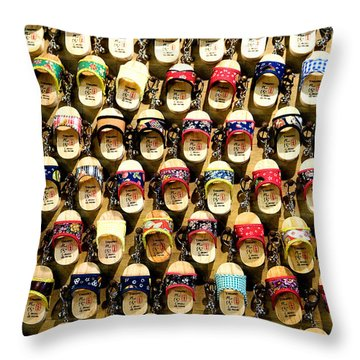 Shoes Throw Pillow by Yew Kwang