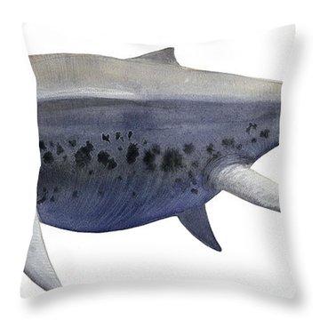 Shonisaurus, A Prehistoric Ichthyosaur Throw Pillow by Sergey Krasovskiy