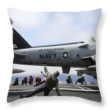 Shooters Signal Satisfactory Final Throw Pillow