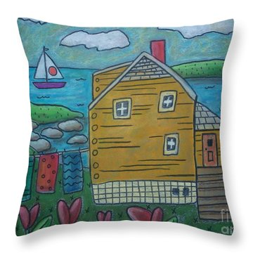 Shore Cottage Throw Pillow by Karla Gerard