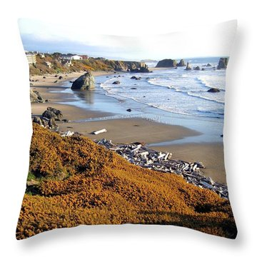 Throw Pillow featuring the photograph Shores Of Oregon by Will Borden