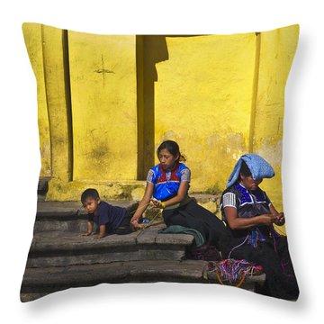 Short Leash Throw Pillow by Skip Hunt