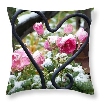 Shot Through The Heart Throw Pillow by Dorrene BrownButterfield