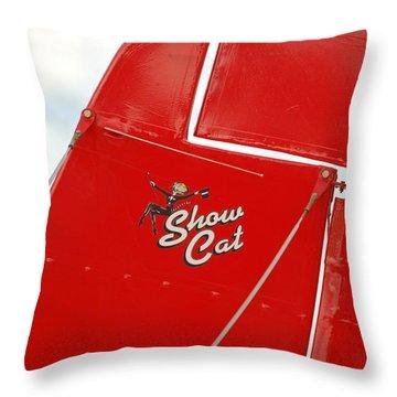Show Cat Throw Pillow