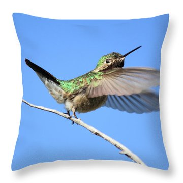 Showing My Beauty Throw Pillow