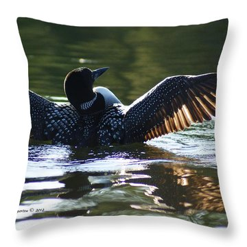 Showing Off Throw Pillow by Steven Clipperton