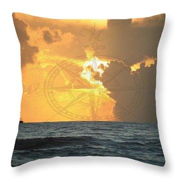 Shrimp Boast Sunrise II Throw Pillow