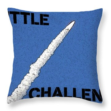 Shuttle Challenger  Throw Pillow by David Lee Thompson