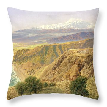 Sicily - Taormina Throw Pillow by John Brett
