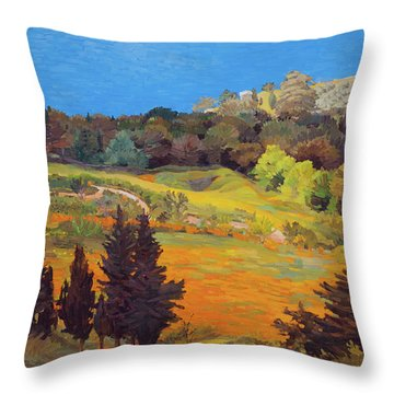 Sicily Landscape Throw Pillow