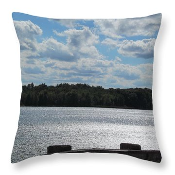 Throw Pillow featuring the photograph Side Clouds by Tina M Wenger