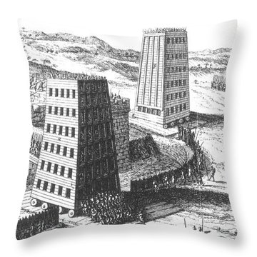 Siege Of Jerusalem 1229 Throw Pillow by Photo Researchers