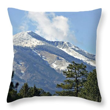 Sierra Blanca Clouds 3 Throw Pillow