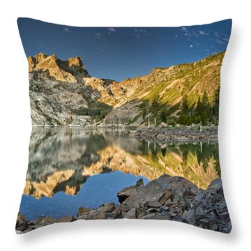 Sierra Buttes Panorama 1 Throw Pillow by Greg Nyquist