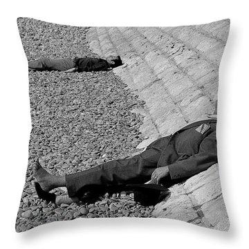 Siesta In Nice Throw Pillow by Michael Mogensen