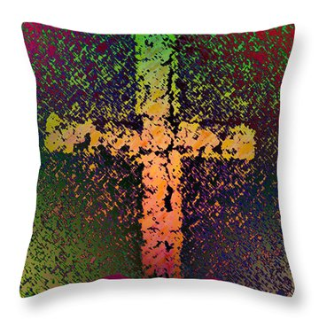Throw Pillow featuring the photograph Sign Of The Cross by David Pantuso