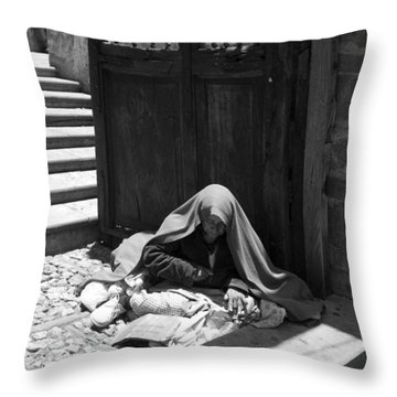 Throw Pillow featuring the photograph Silent Desperation by Lynn Palmer