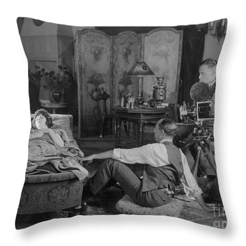Silent Film Set, 1920s Throw Pillow by Granger
