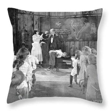 Silent Film Still: School Throw Pillow by Granger
